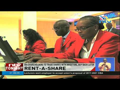 Government gazettes law allowing short term borrowing of shares at NSE