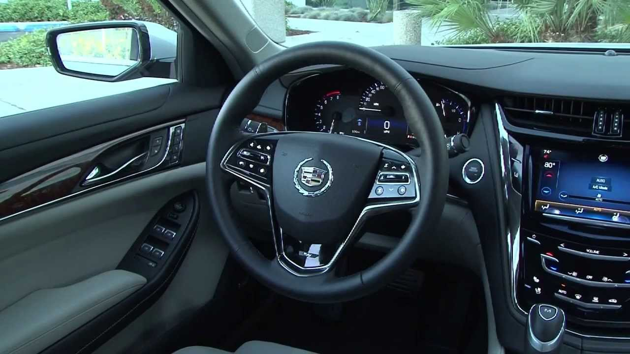 2014 cadillac cts interior review automototv youtube. Black Bedroom Furniture Sets. Home Design Ideas