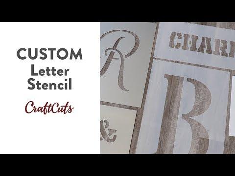 CUSTOM LETTER STENCIL - Product Video | Craftcuts.com