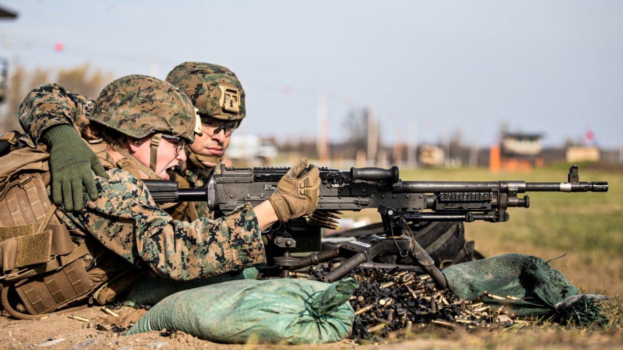 U.S. Marines • Fire M240B Machine Guns • Fort Drum, New York Nov – 7 2020