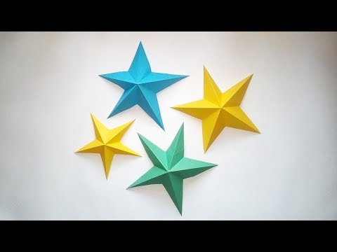 How to make 3D paper star | DIY origami star tutorial | Easy paper origami