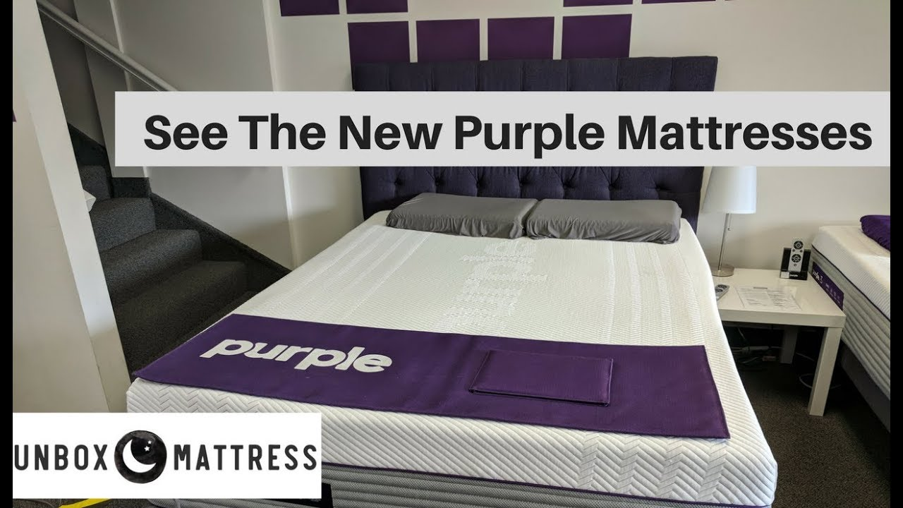 the new purple mattress see all 3 new purple beds youtube. Black Bedroom Furniture Sets. Home Design Ideas
