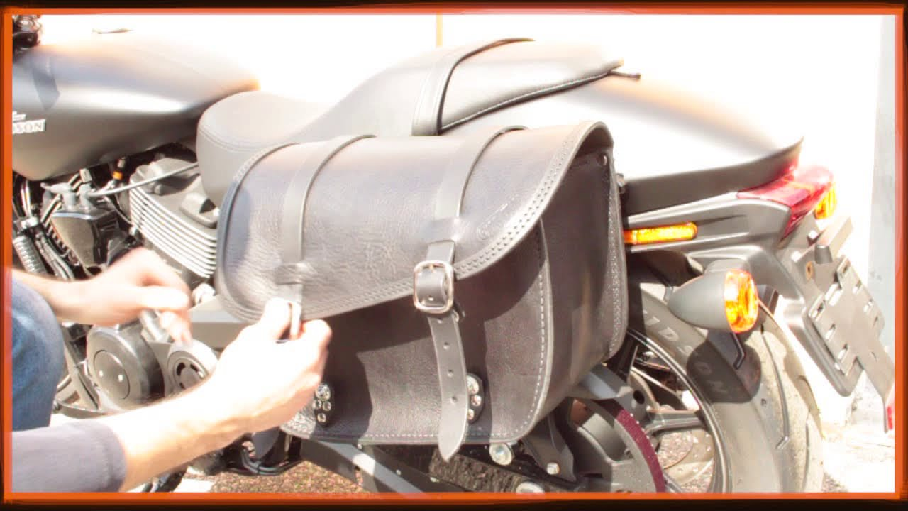Harley davidson street 750 saddlebag installation guide ends cuoio youtube - Harley street 750 images ...