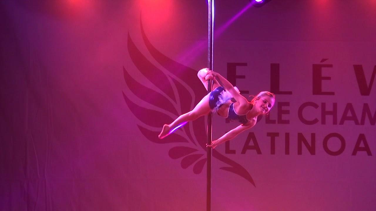 """1º lugar pole dance mini kids amateur """"elÉvate pole championship"""