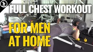 Best Chest Workout At Home For Men - The Full Dumbbell Routine