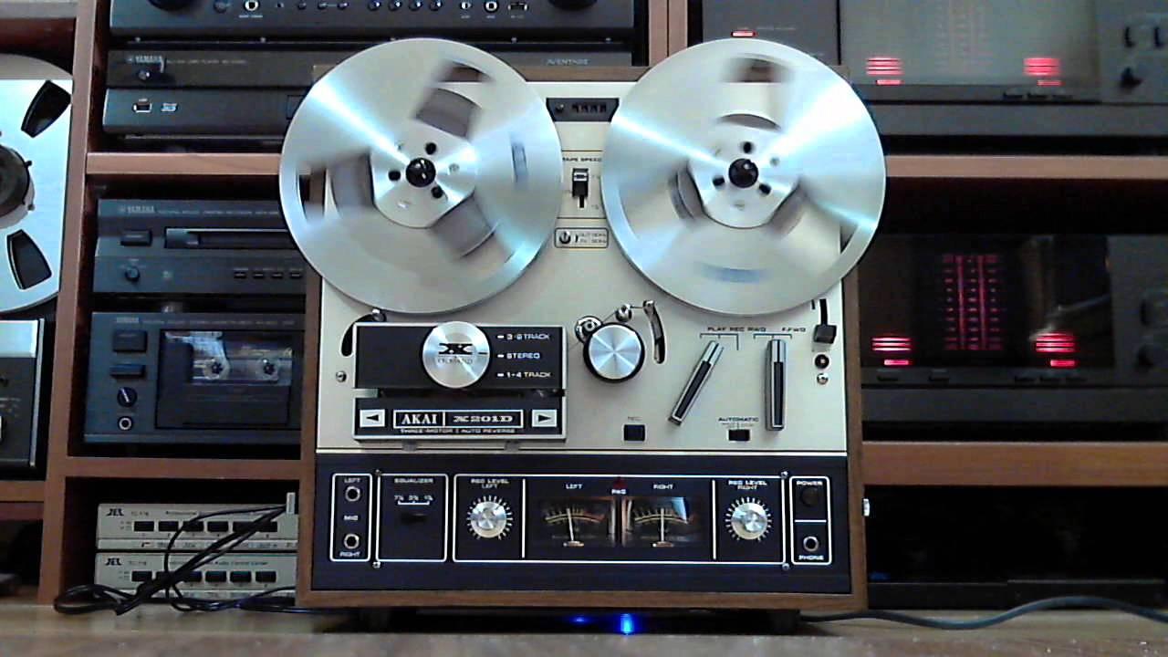 Akai X-201D sound quality - YouTube
