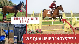 WE QUALIFIED 'HOYS' !!!! - Silver league final at Winter showjumping championships!
