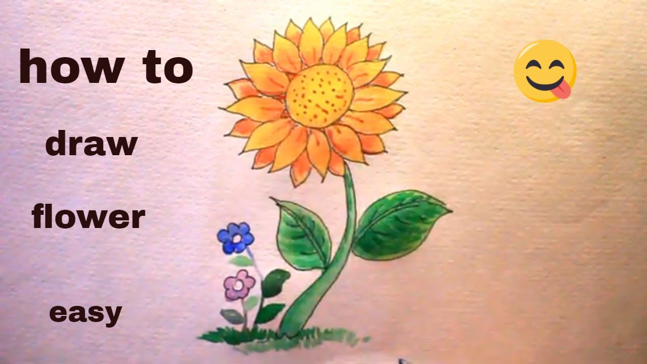 How TO Draw a flower/draw flower easy/flower drawing