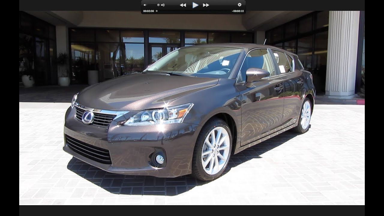 2011 Lexus CT200h Start Up, Engine, And In Depth Tour   YouTube