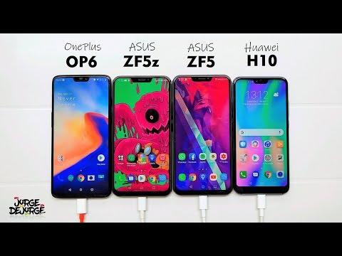 ★ Teste de BATERIA: OnePlus 6, Zenfone 5z, Zenfone 5, Honor 10 — Fiquei SURPRESO!