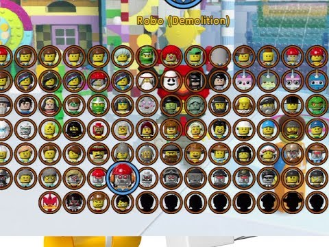 THE LEGO MOVIE VIDEOGAME - ALL CHARACTERS UNLOCKED