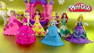 Pâte à modeler Princesse Poupées Magiclip Pâte Scintillante Sparkle Play doh