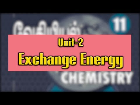 Chemistry Video Lesson - Exchange Energy ENGLISH