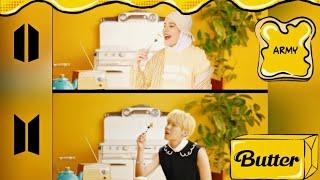 دمج كوفر اغنية Butter مع الاغنية الأصلية ل BTS