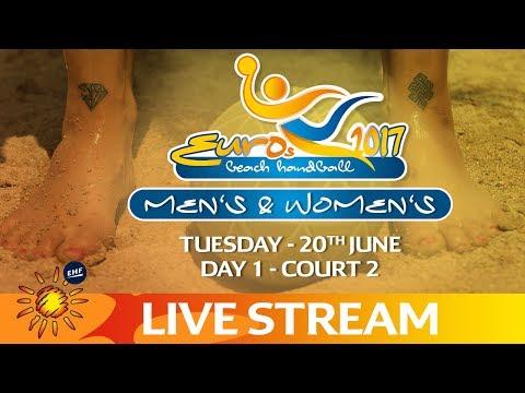 Live: Beach Handball EUROS | Day 1 - Court 2 | Zagreb, Croatia