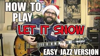 Let it Snow - easy jazz lesson