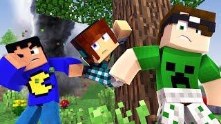 Minecraft: LUTAMOS COM UMA TEMPESTADE! (100 Desafios)