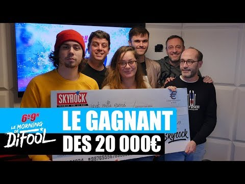 Constant repart avec son chèque de 20 000€ ! #MorningDeDifool