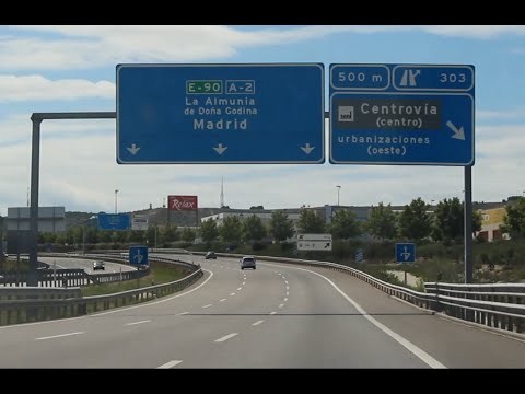 The Spanish Highway - Off To Madrid - Driving In Spain