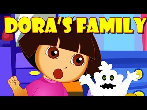 Dora The Explorer Finger Family | Ghost Attack On Dora's Family | Nursery Rhymes With Dora And Buji