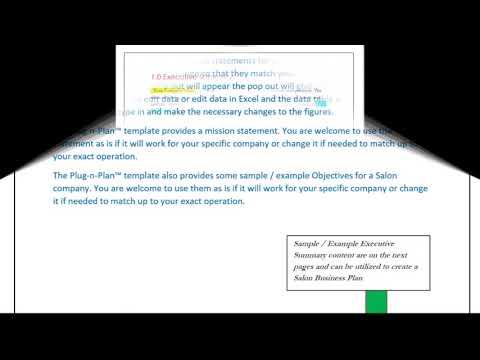 Salon business plan Executive Summary - Example, Sample