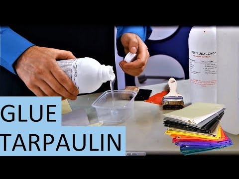 How to glue tarpaulin - Best Adhesive PVC