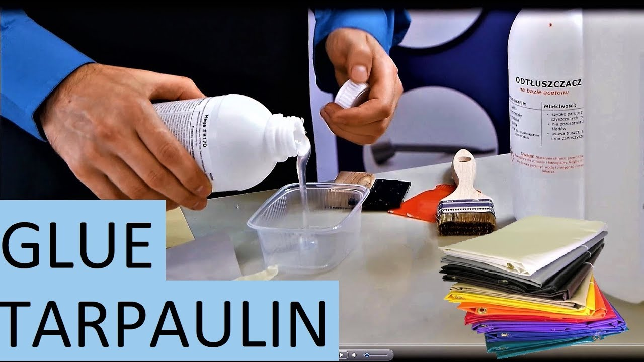 How To Glue Tarpaulin Best Adhesive Pvc Youtube