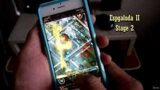 iPhone 6 gaming - Espgaluda II stage 2 gameplay - great shmup
