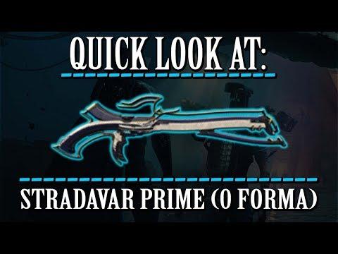 Warframe - Quick Look At: Stradavar Prime (0 Forma) thumbnail