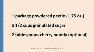Grandma Rose's Peach Cherry Jam - Pressure Canner Recipes
