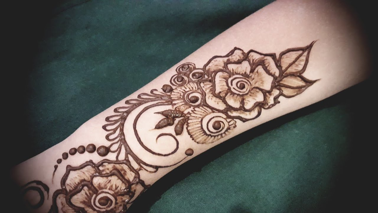 13 Unique Henna Designs Doing The Rounds This Wessing: Latest Stylish Beautiful Rose Henna Designs For Hands