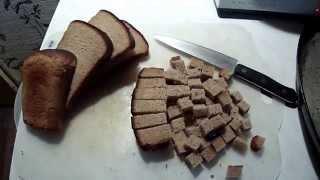 Холостяцкая кулинария.  Часть 2 -  Ржаные сухарики.