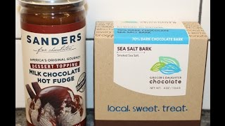 Michigan Munchies: Sander's Hot Fudge Dessert Topping & Grocer's Daughter Sea Salt Bark Review