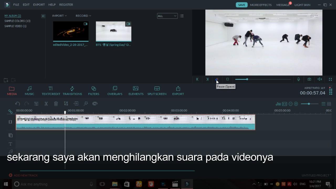 Cara Menghilangkan Suara Pada Video Di Wondershare Filmora Youtube
