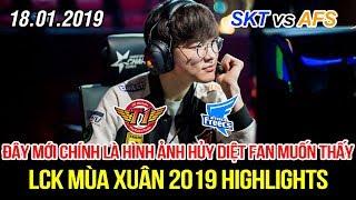 lck 2019 skt vs afs game 1 highlights faker ta sng rc r mang v chin thng hy dit