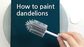 (449) A new way to paint dandelions   Fluid Acrylic Pouring for beginners   Designer Gemma77