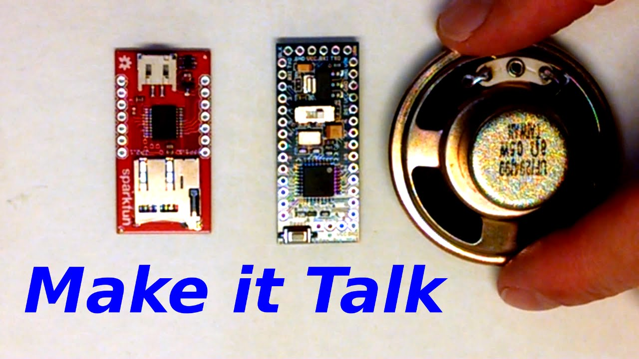How To Make Things Talk Arduino Plus Sound Module Wtv020sd Youtube Audio Amplifier Circuit Board Customized For