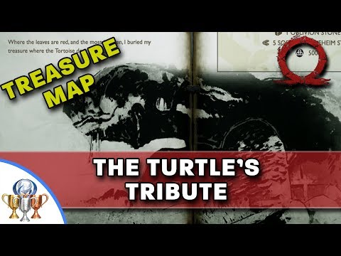 God of War Treasure Map - The Turtle's Tribute - Map and Dig Spot Locations