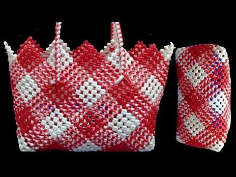 2 Roll Plastic wire 4×4  Diamond design cross cut koodai making   Basket Weaving