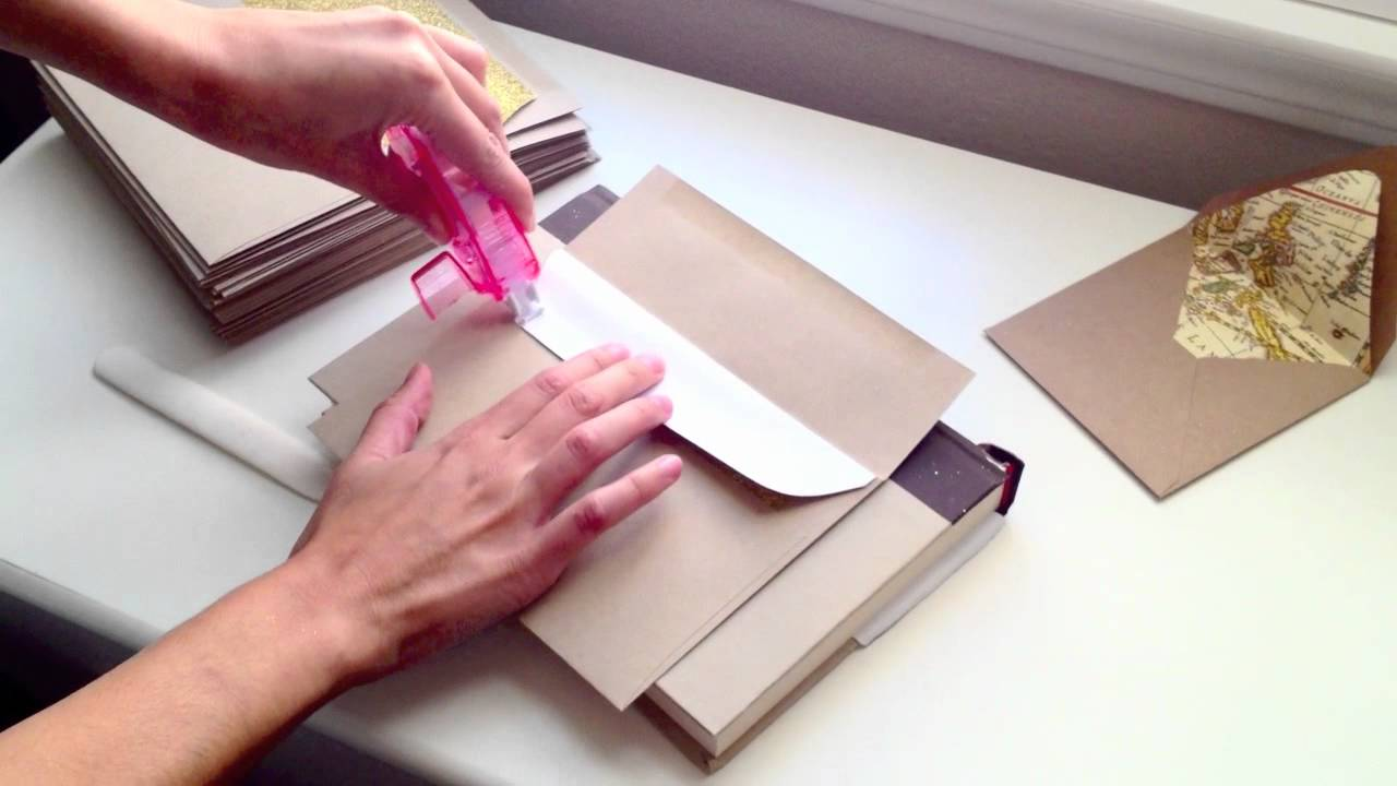 Simple DIY Envelope Liners: How to line your own envelopes. The ...