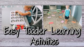 3 SIMPLE LEARNING ACTIVITIES FOR TODDLERS/PRESCHOOLERS | WAYS TO TEACH AT HOME