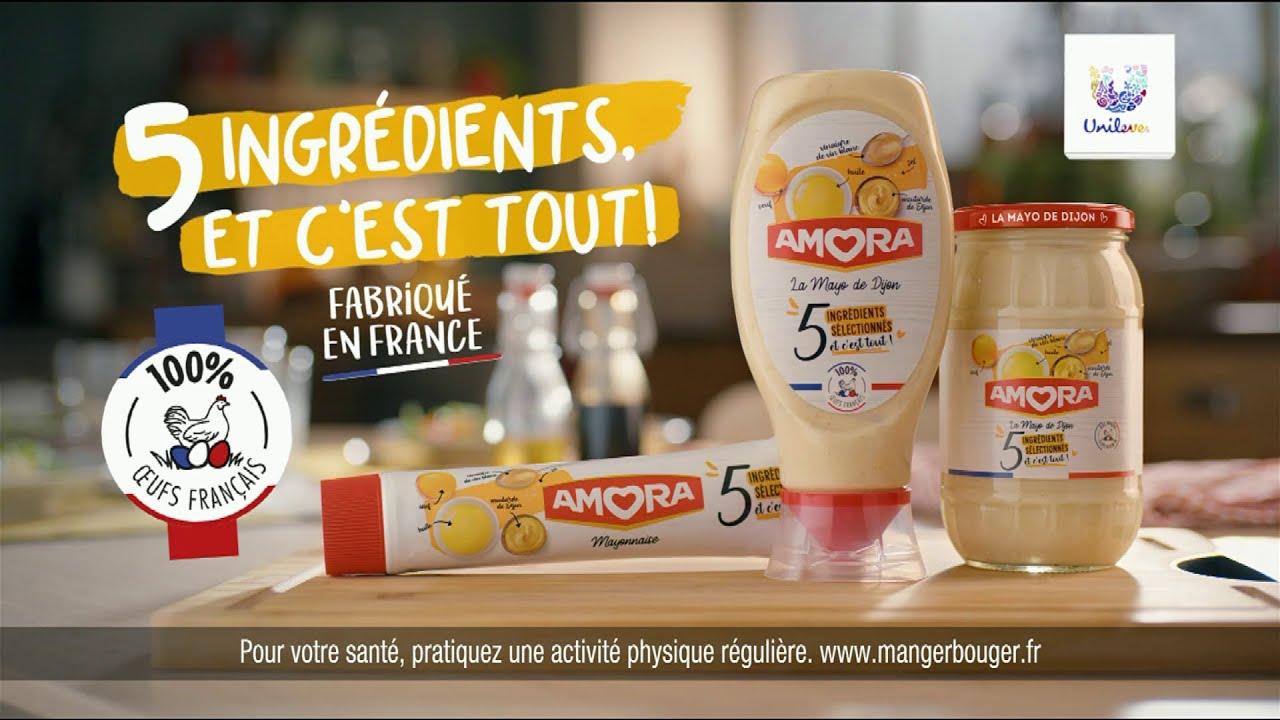 """Musique de la pub Mayonnaise Amora Unilever """"5 ingrédients et c'est tout!""""  Juillet 2021"""