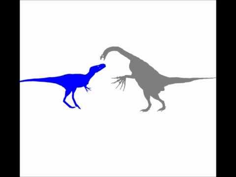 Alioramus vs Therizinosaurus