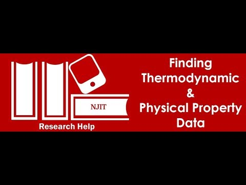 How to Find Physical and Thermodyamic Properties of Chemical Substances
