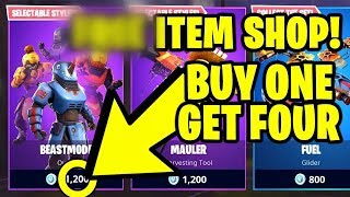 Fortnite *FREE* ITEM SHOP (RIGHT NOW) - BUY 1 SKIN, GET 4 FOR FREE!!