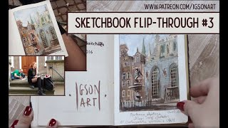 Watercolor & Gouache complete sketchbook nr 3 by IgsonArt - Iga Oliwiak