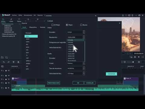 Como exportar un video en Filmora 2019
