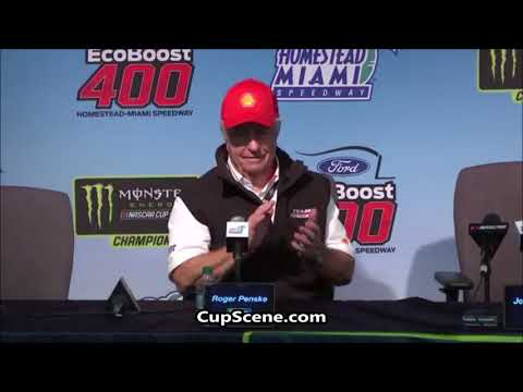 NASCAR at Homestead-Miami Speedway Nov. 2018:  Roger Penske, Todd Gordon post race