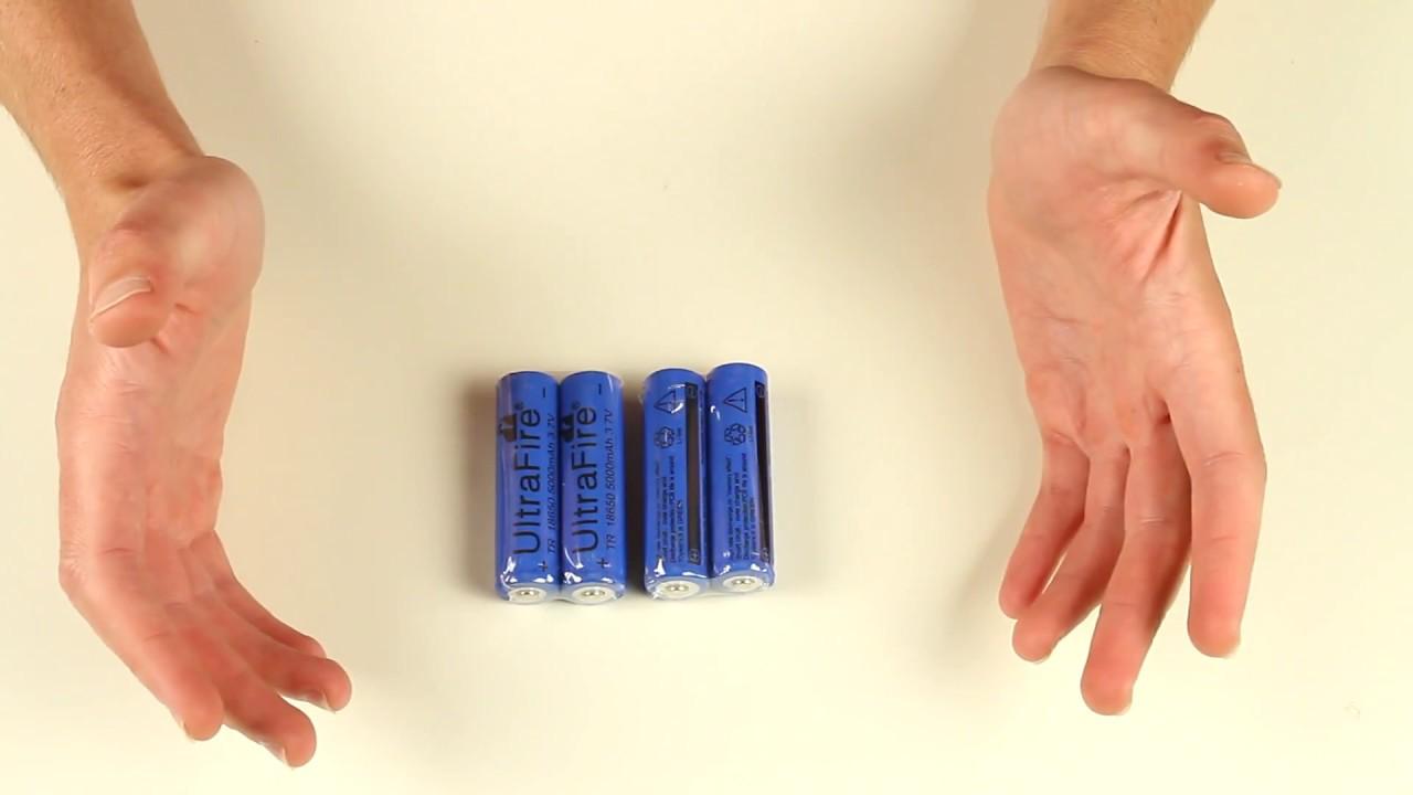 uk seller 4 x trustfire 18650 battery