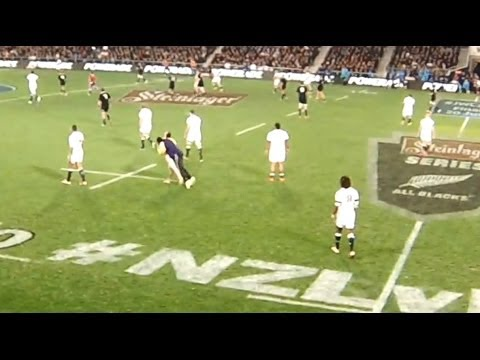 Huge tackle from a security guard on a streaker @ Dunedin (14-06-14)